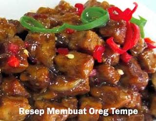 Resep Oreg Tempe