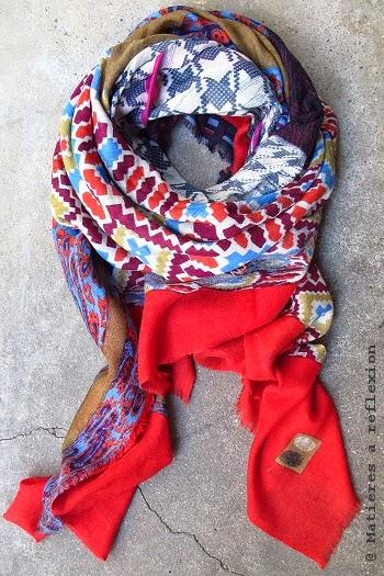 Foulard rouge Cadeaux Mii accessoirse en laine rouge