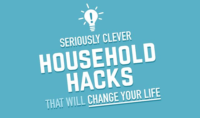 Clever household hacks infographic visualistan for Household hacks