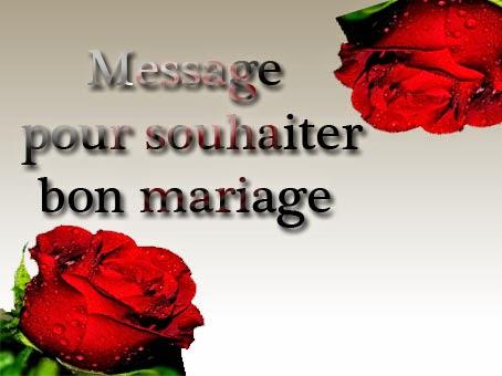 Message pour souhaiter bon mariage