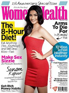 Super Hot Sonam Kapoor Cover Girl Women's Health Magazine April 2013