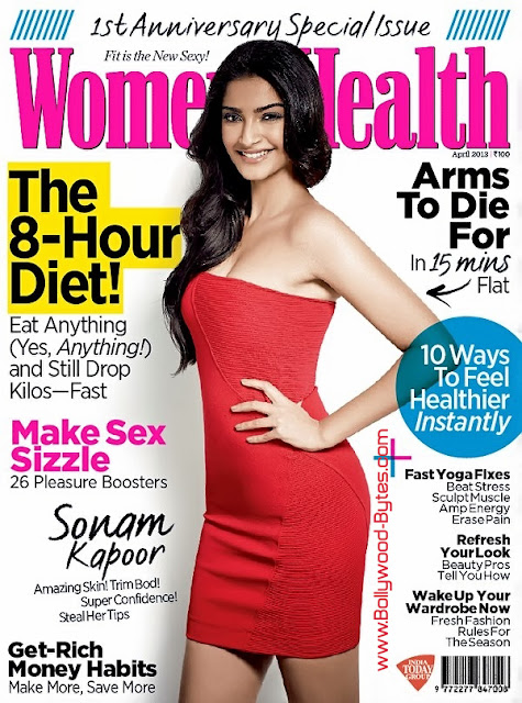 Super Fit Sonam Kapoor Cover Girl Women's Health Magazine April