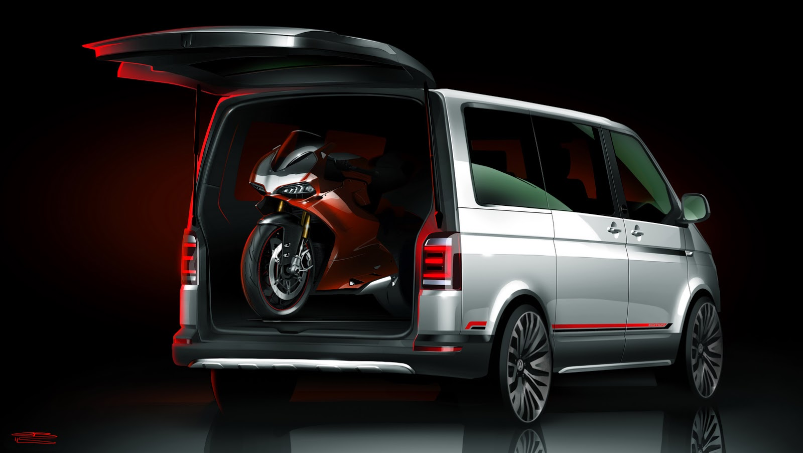 vw multivan panamericana concept for easy riders. Black Bedroom Furniture Sets. Home Design Ideas