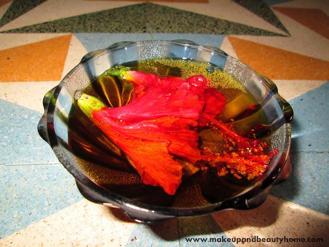 Hibiscus Flowers in Mustard Oil, Hair Growth Recipe
