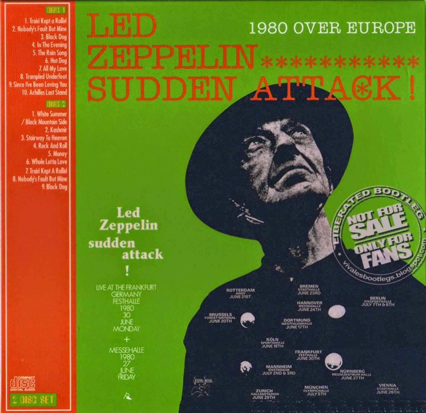 1980 - Led Zeppelin - Sudden Attack - Bootleg