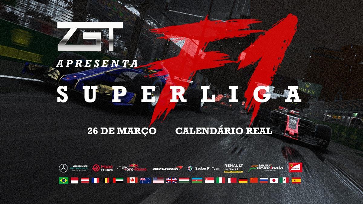 LIGA ZGT - Campeonato Super Liga F1 Inscrições abertas