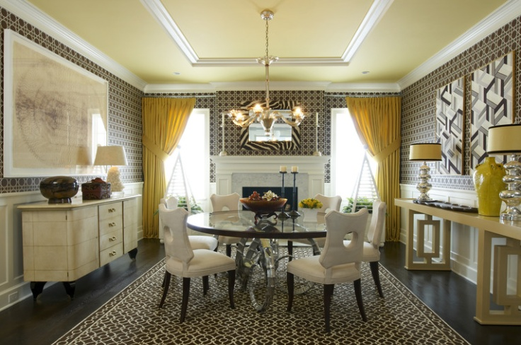 black, white, and a little pop of yellow - 10 fabulous rooms