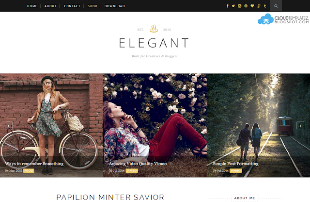 Elegant Clean Blogger Template
