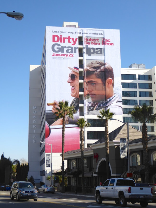 Giant Dirty Grandpa movie billboard