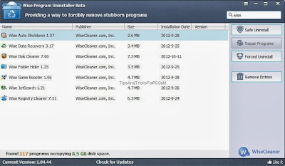 Download WISE PROGRAM UNINSTALLER