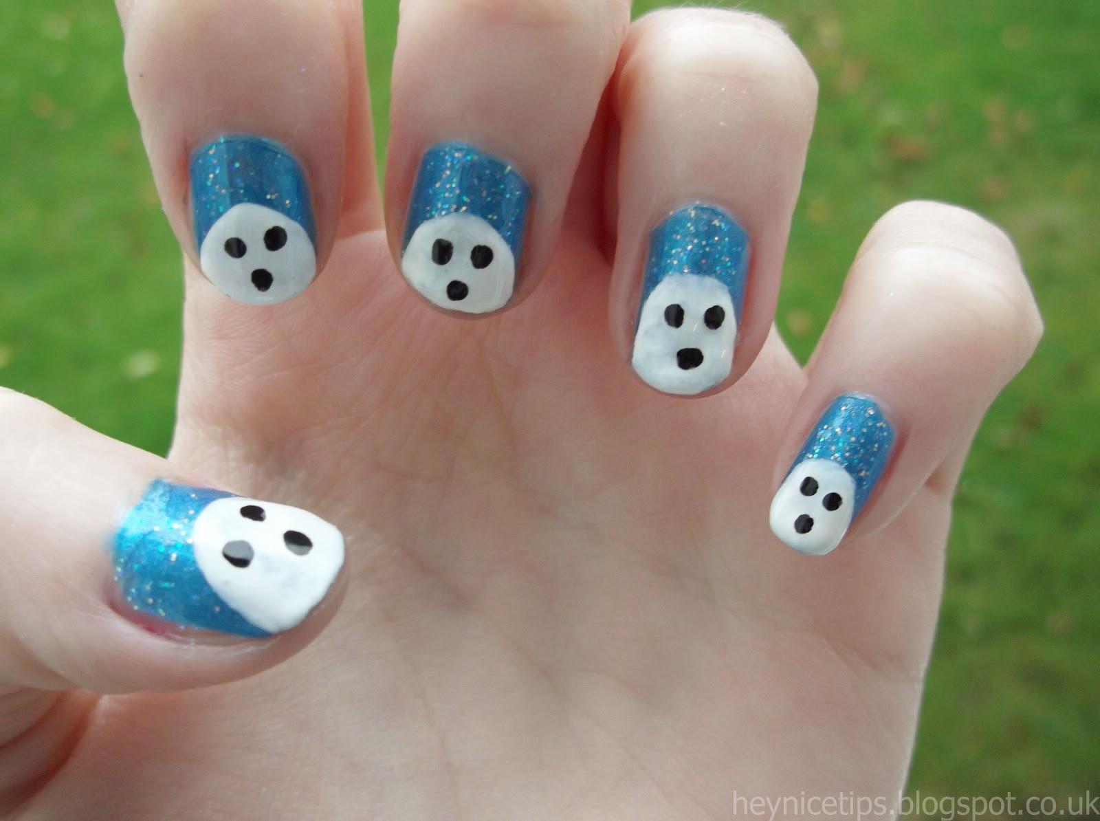 Hey Nice Tips Ghost Nail Art
