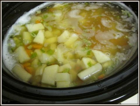 A girl eats world german potato and leek soup german potato and leek soup publicscrutiny Images