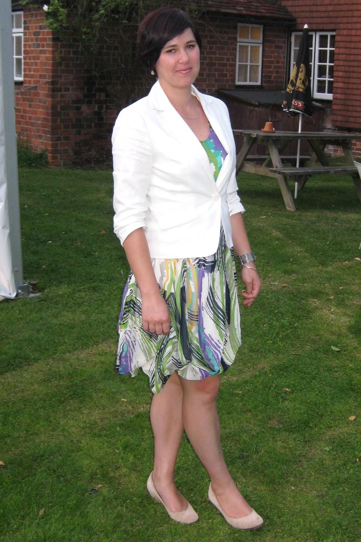 Postie Plus Abstract Print Dress Primark Skinny Belt Dorothy Perkins White Linen Blazer Stella And Dot Earrings House Of Fraser Nude Wedges