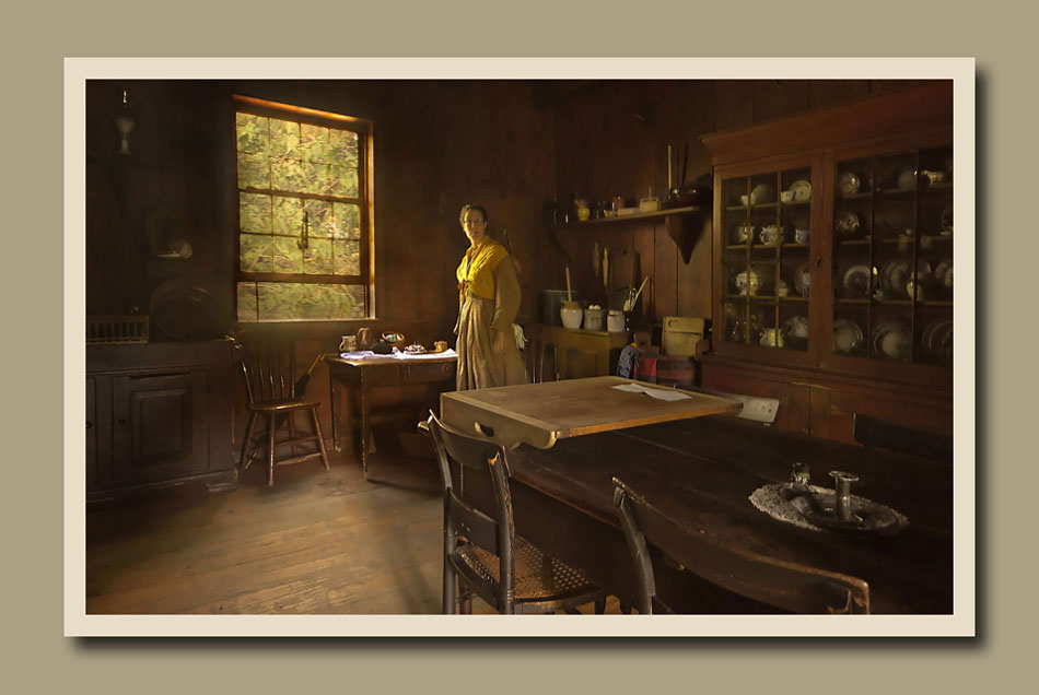 The kitchen of Stong second House at Black Creek Pioneer Village.  Holly Cawfield Photography