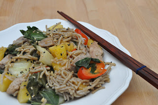 Recipe: Stir-fry pork and buckwheat noodles
