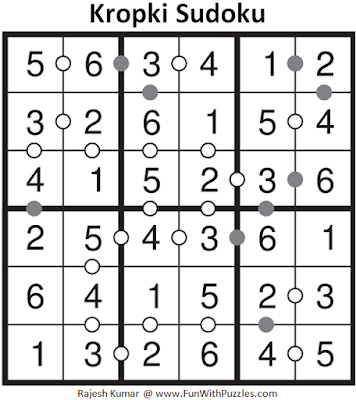 Kropki Sudoku (Mini Sudoku Series #55) Answer