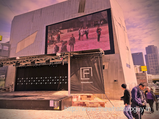 Giant Screen in Federation Square Melbourne