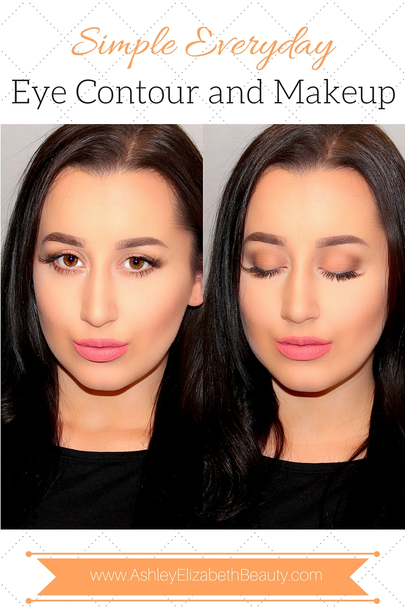 How to do a simple everyday eye contour and makeup tutorial ashley how to do a simple everyday eye contour and makeup tutorial baditri Images