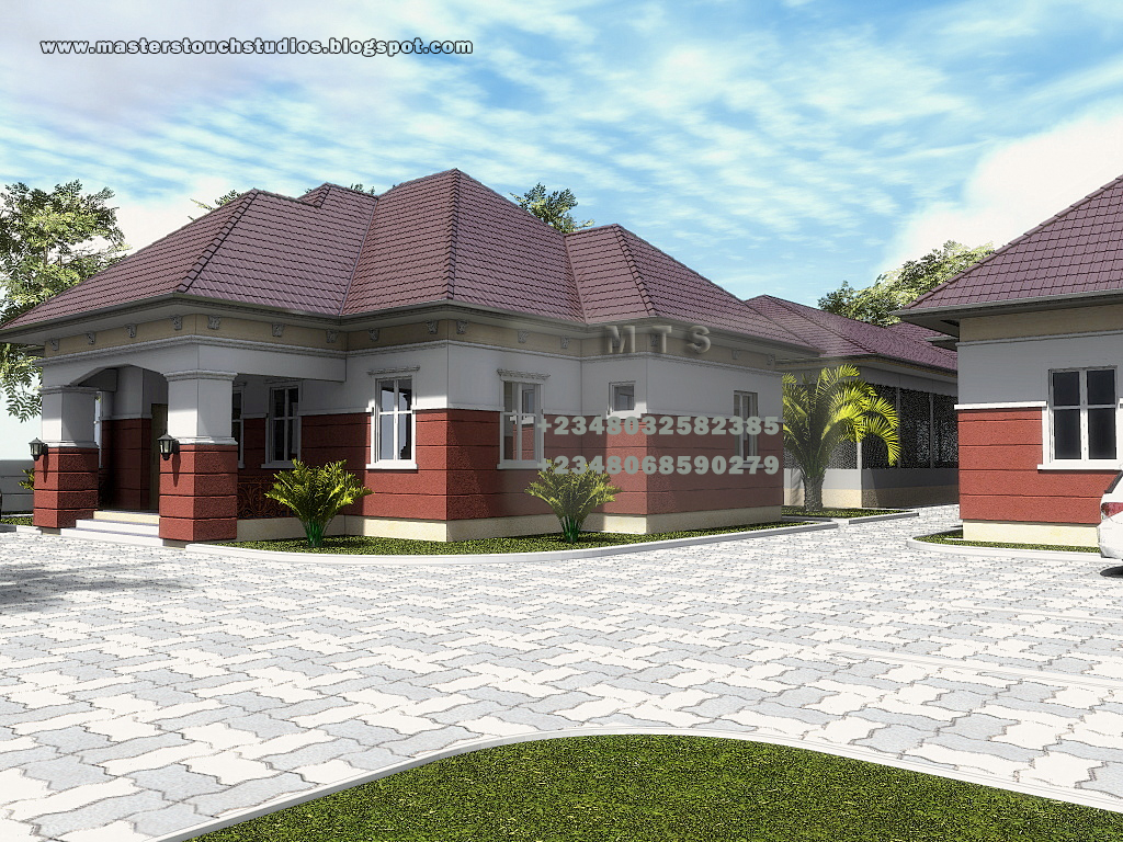Poultry design 3 bedroom bungalow plus a boys quarters