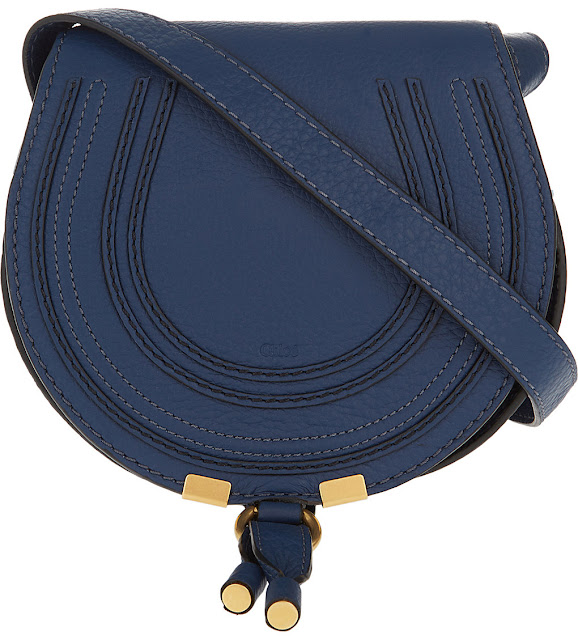 chloe marcie blue bag, chloe blue saddle bag,