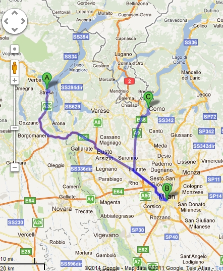 Moving Between Lago Maggiore And Lake Como