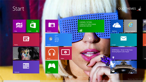 Lady Gaga Theme For Windows 7 And 8