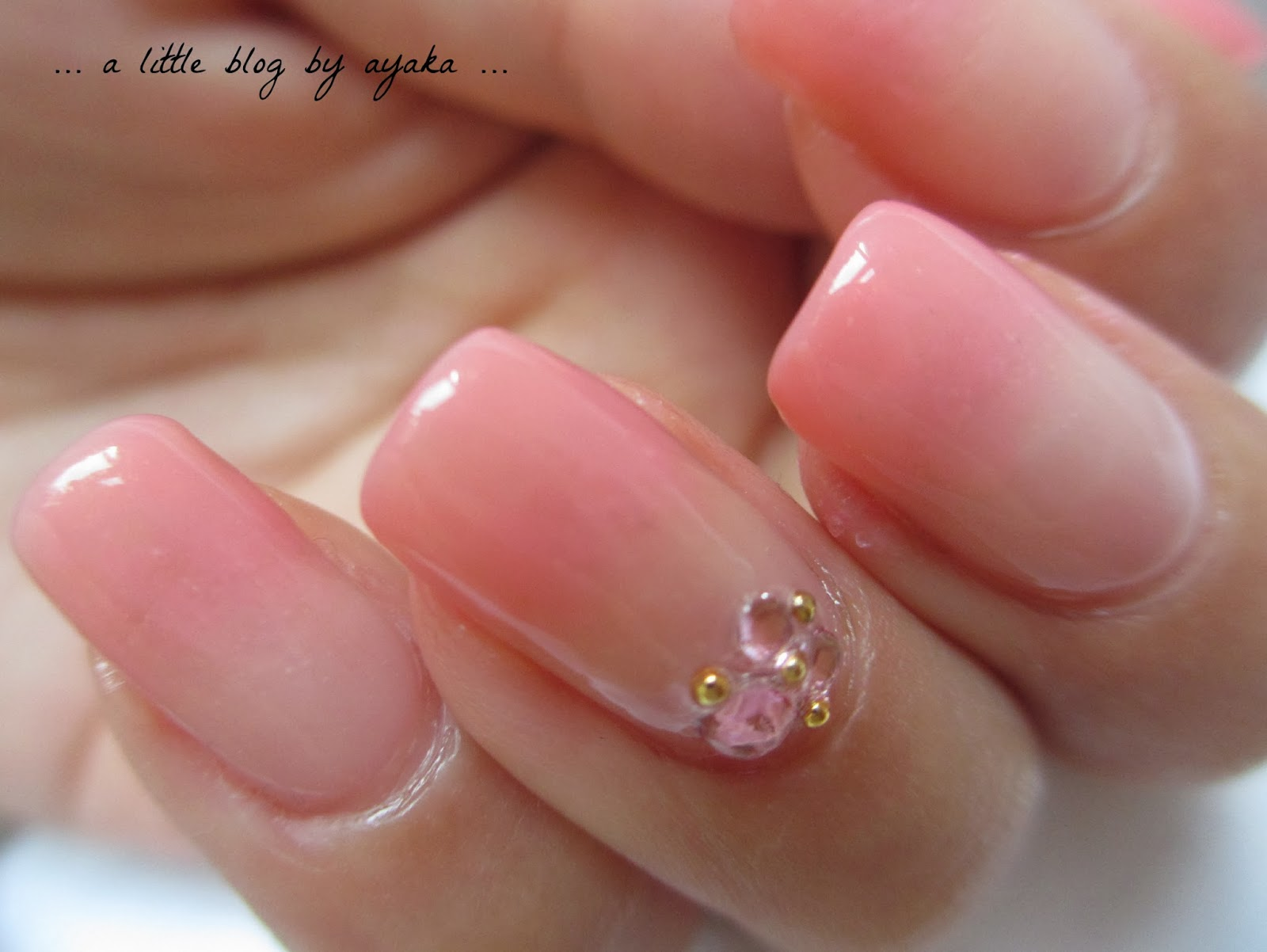 a little blog by ayaka ...: Squishy peachy ombre nails ♡