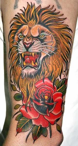 Best Animal Tattoos, Best Lion Tattoos (Gallery 5)