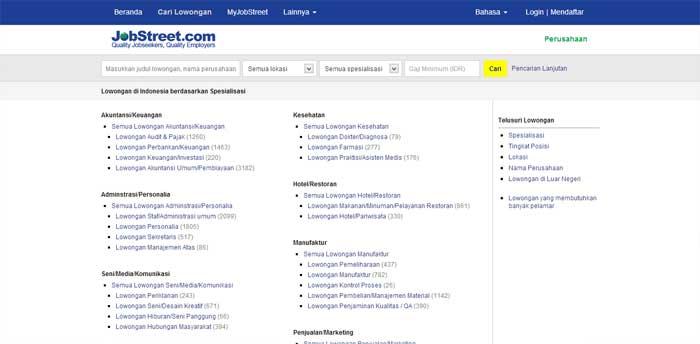 Situs Lowongan Kerja JobStreet