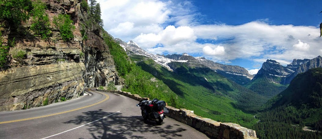 going to the sun road motorcycle