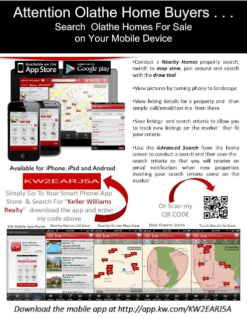 Search Olathe Homes For Sale on Your Mobile Phone
