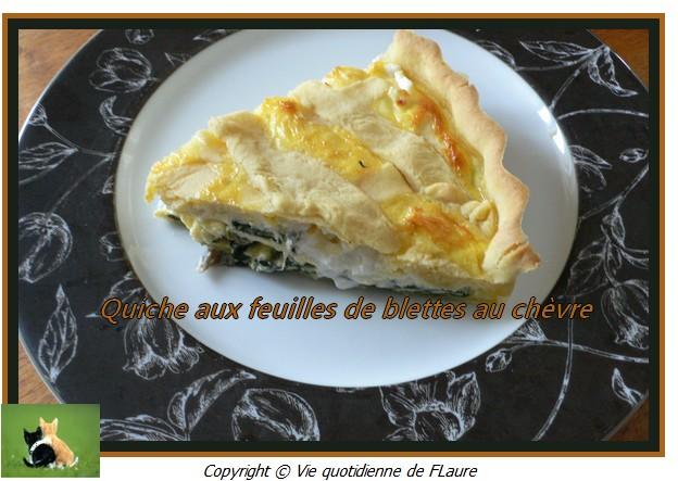 Quiche aux feuilles de blettes au ch vre blogs de cuisine - Comment cuisiner des feuilles de blettes ...