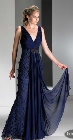 Vestidos de madrina en color azul