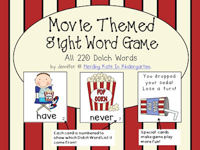 https://www.teacherspayteachers.com/Product/Movie-Themed-Sight-Word-Game-Dolch-Word-Lists-262154