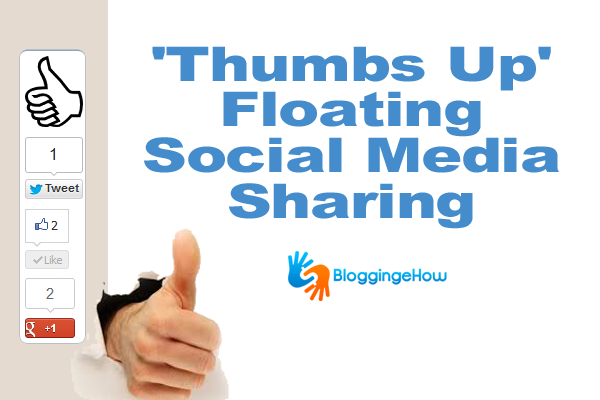 'Thumbs Up' Floating Social Media Sharing Widget With Advance Scrolling
