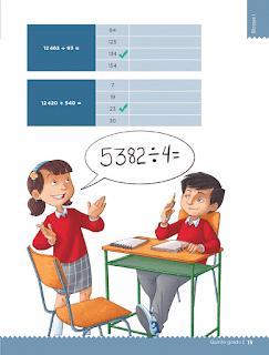 Respuestas Apoyo Primaria Desafíos matemáticos 5to grado Bloque I lección 4 Anticipo el resultado