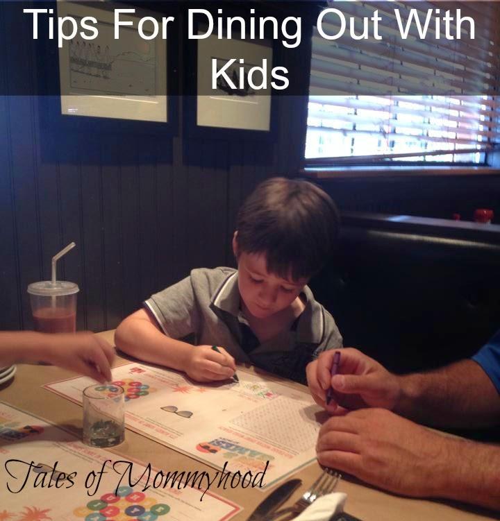 tips for taking kids to restaurants