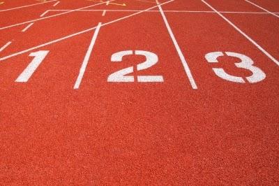 Athletic track lanes