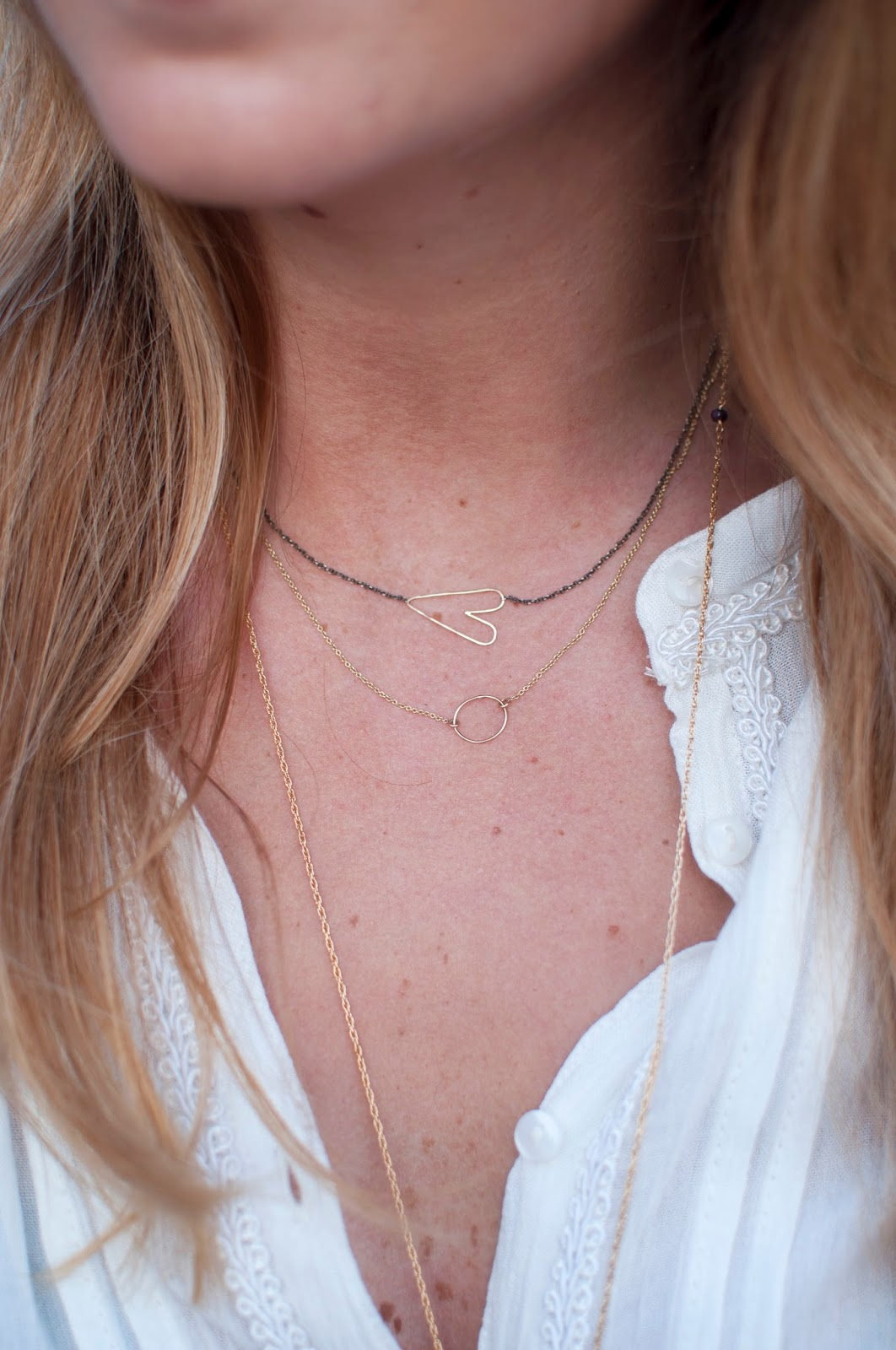 zoe chicco mixed heart necklace