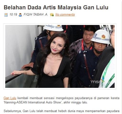 ... gadis ini mencerminkan artis negara kita yang banyak kontroversi