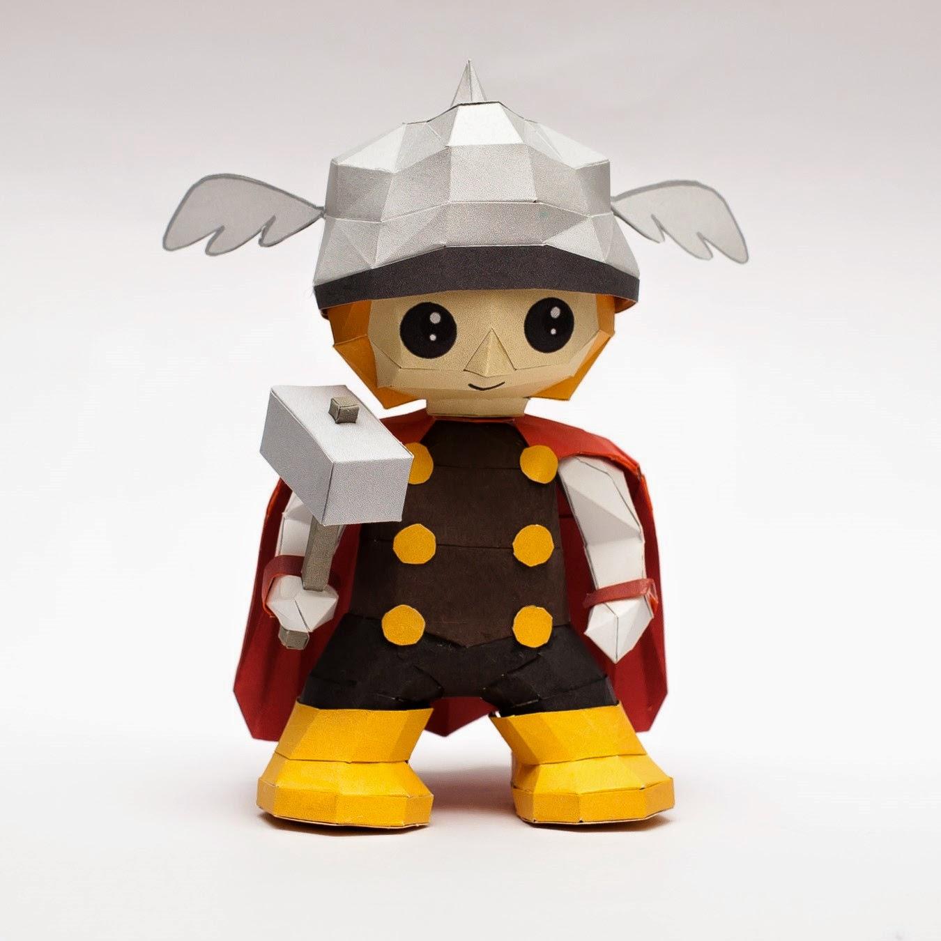 Chibi Mini Thor Papercraft Model