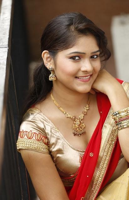 haritha cleavage show