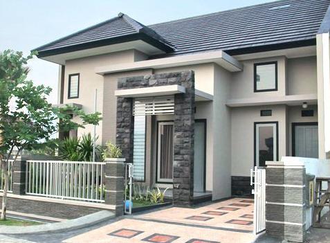 model motif tiang teras depan rumah minimalis modern