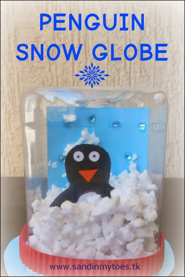 Making a Penguin Snow Globe