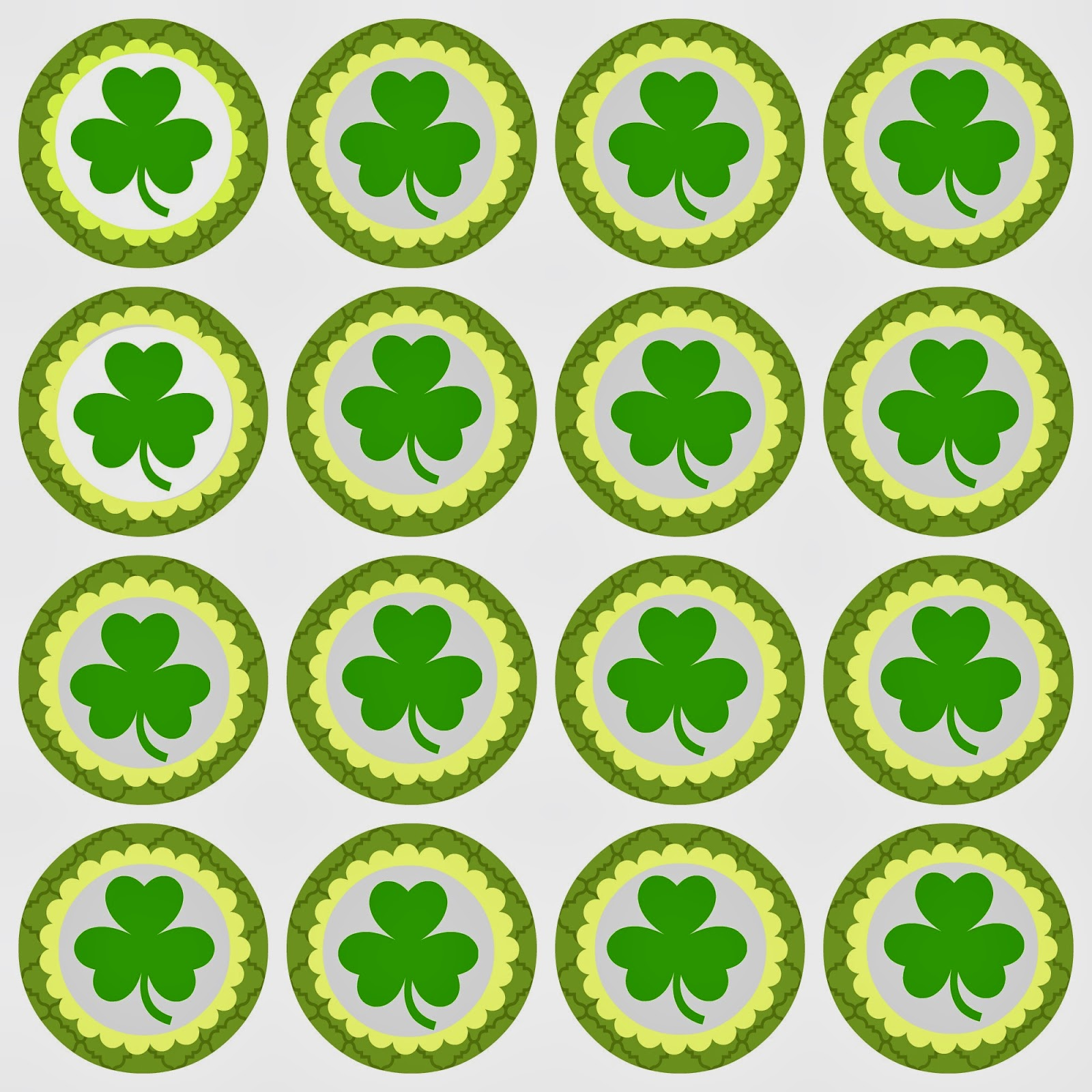 It is a photo of Decisive St Patrick's Day Clover Printable