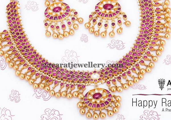 Temple Jewellery with Gold Swirls