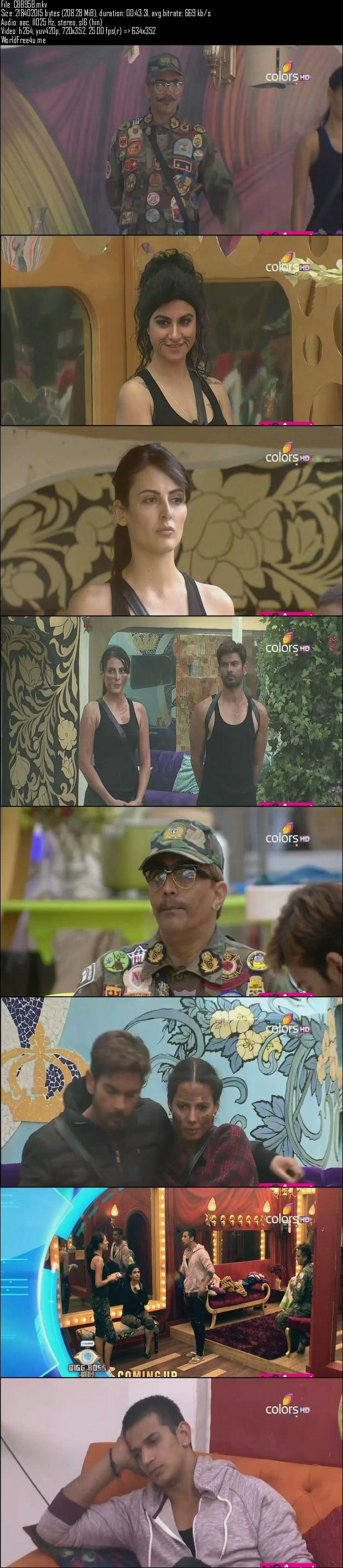 Screenshots Of Hindi Show Bigg Boss 9 14th January 2016 Episode 95 200MB 480P HD