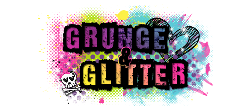 Grunge and Glitter Scraps