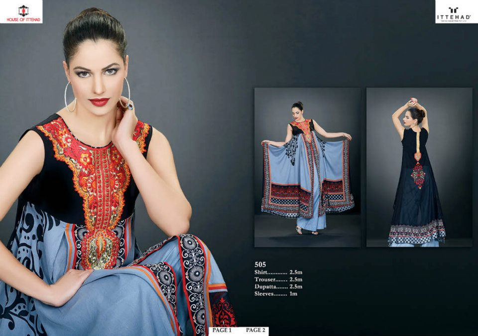EmbroideredSwissVoileSpringSummercollection2013 1 - Ittehad Lawn Embroidered