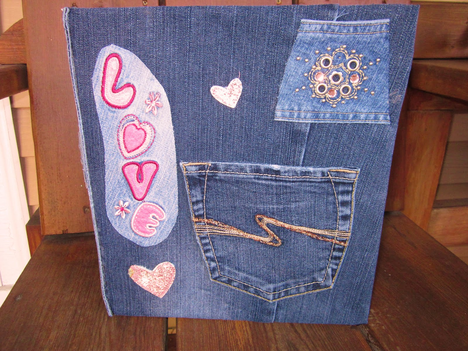 Denim Book Cover Diy : Blue janes bags diy denim covered notebook